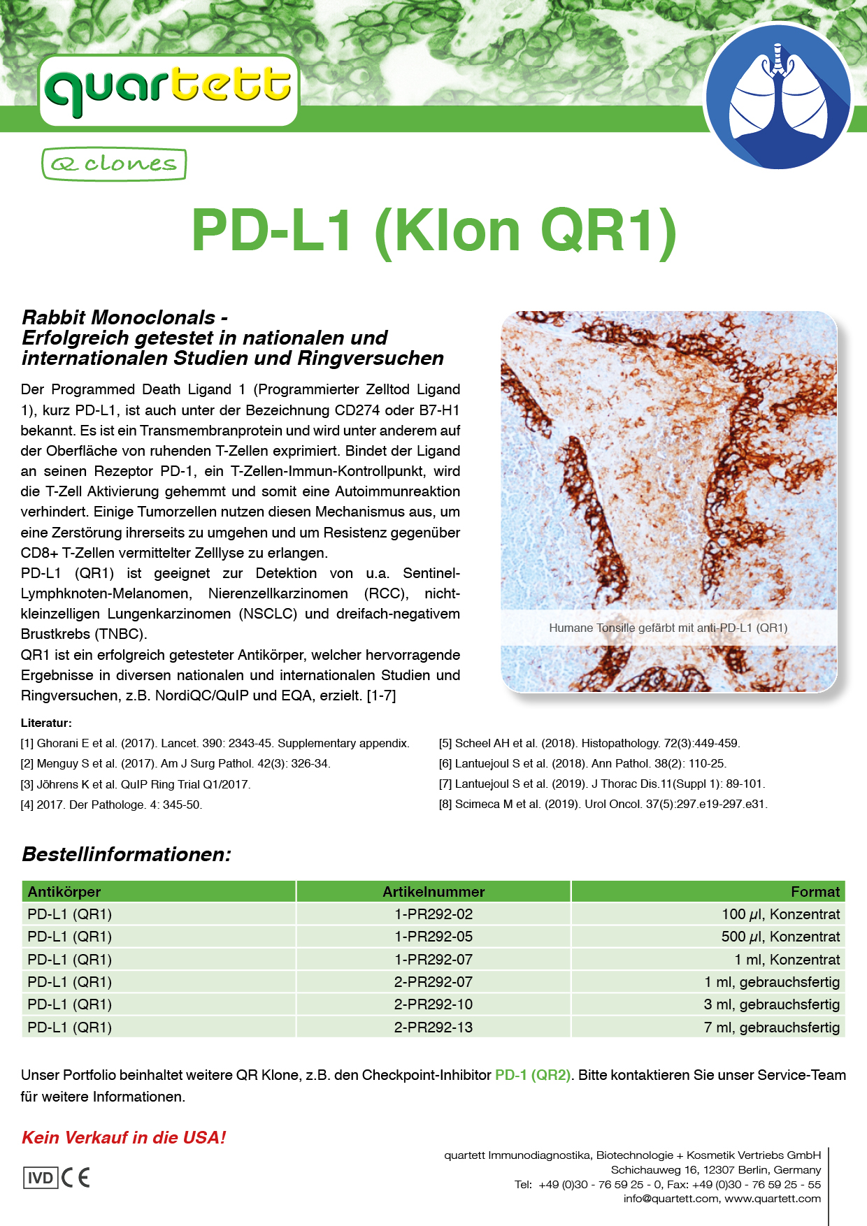 PD-L1 (QR1) -PR292- (Deutsch & English)