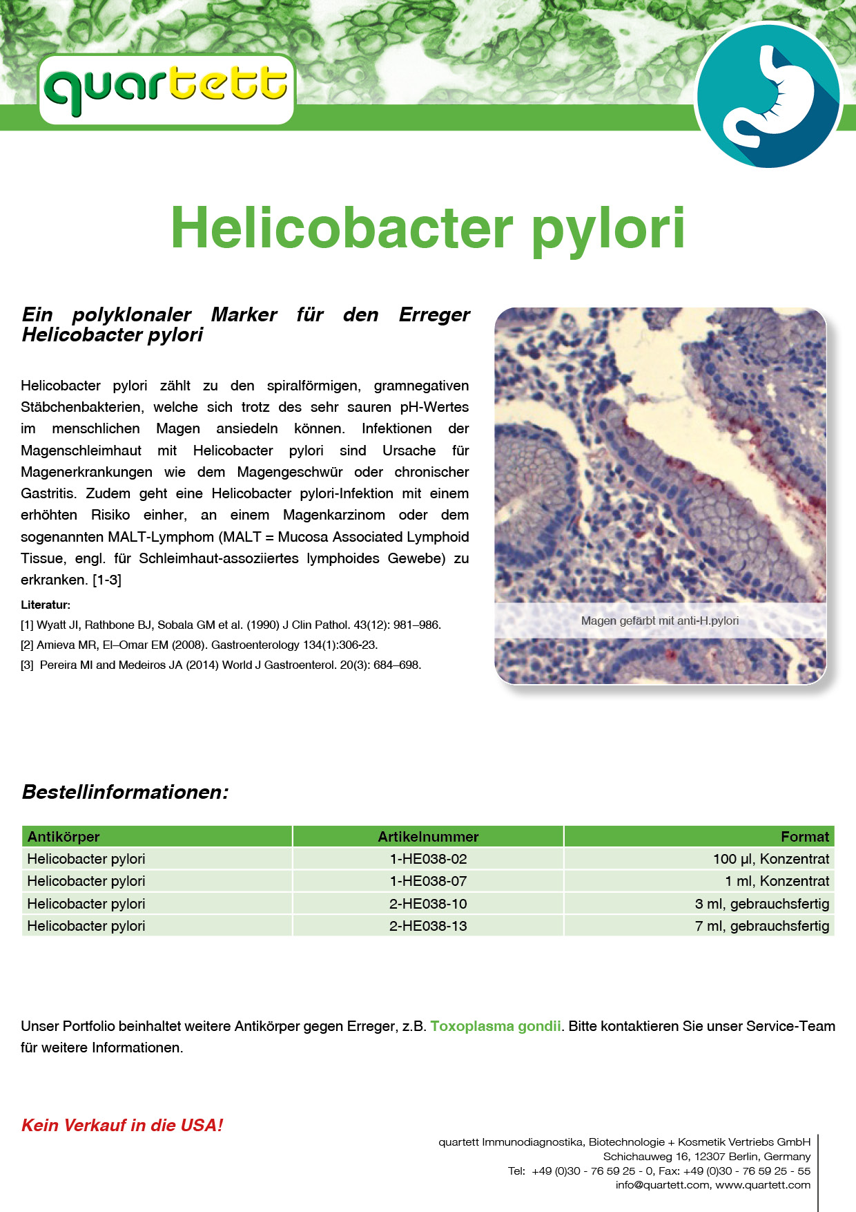 Helicobacter pylori -HE038- (Deutsch & English)