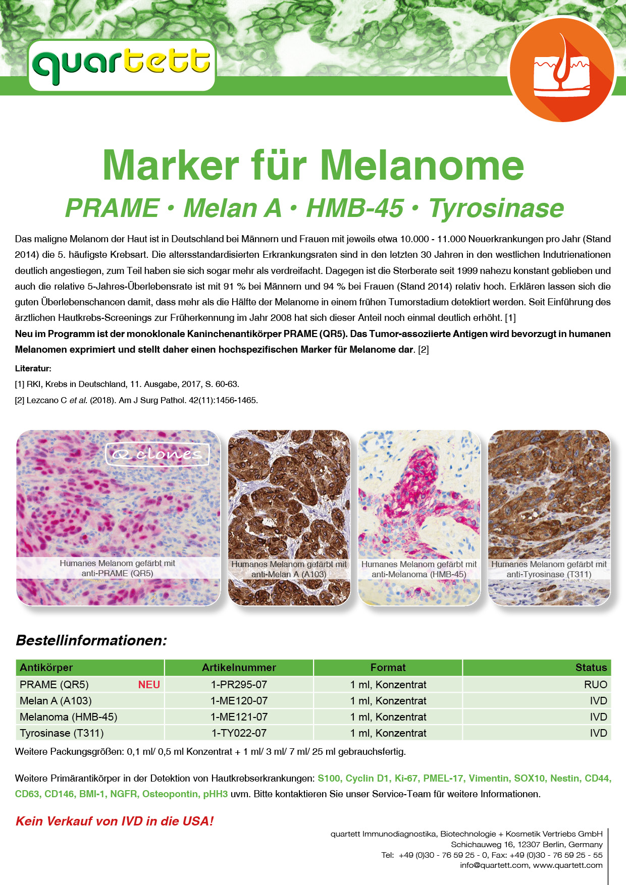Melanoma Marker (Deutsch & English)