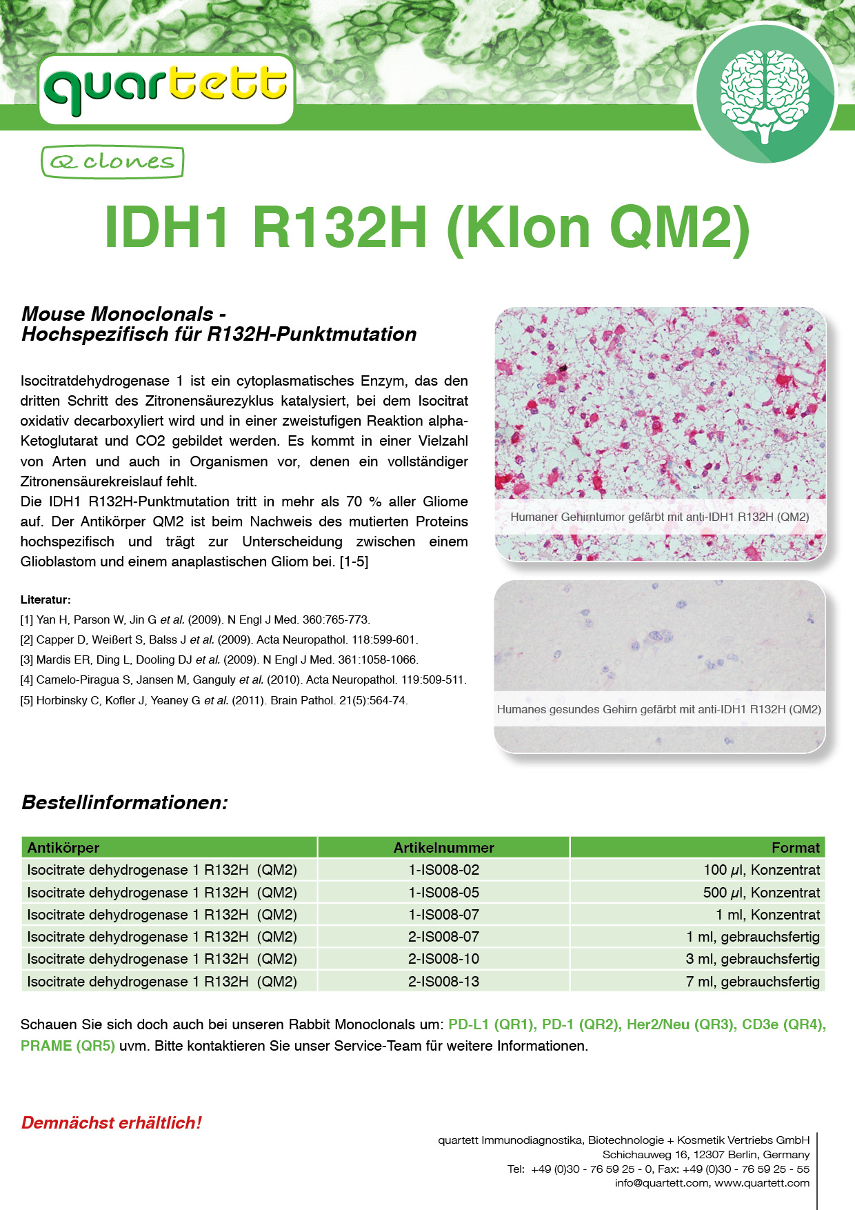 IDH1 (QM002) -I001- (Deutsch & English)