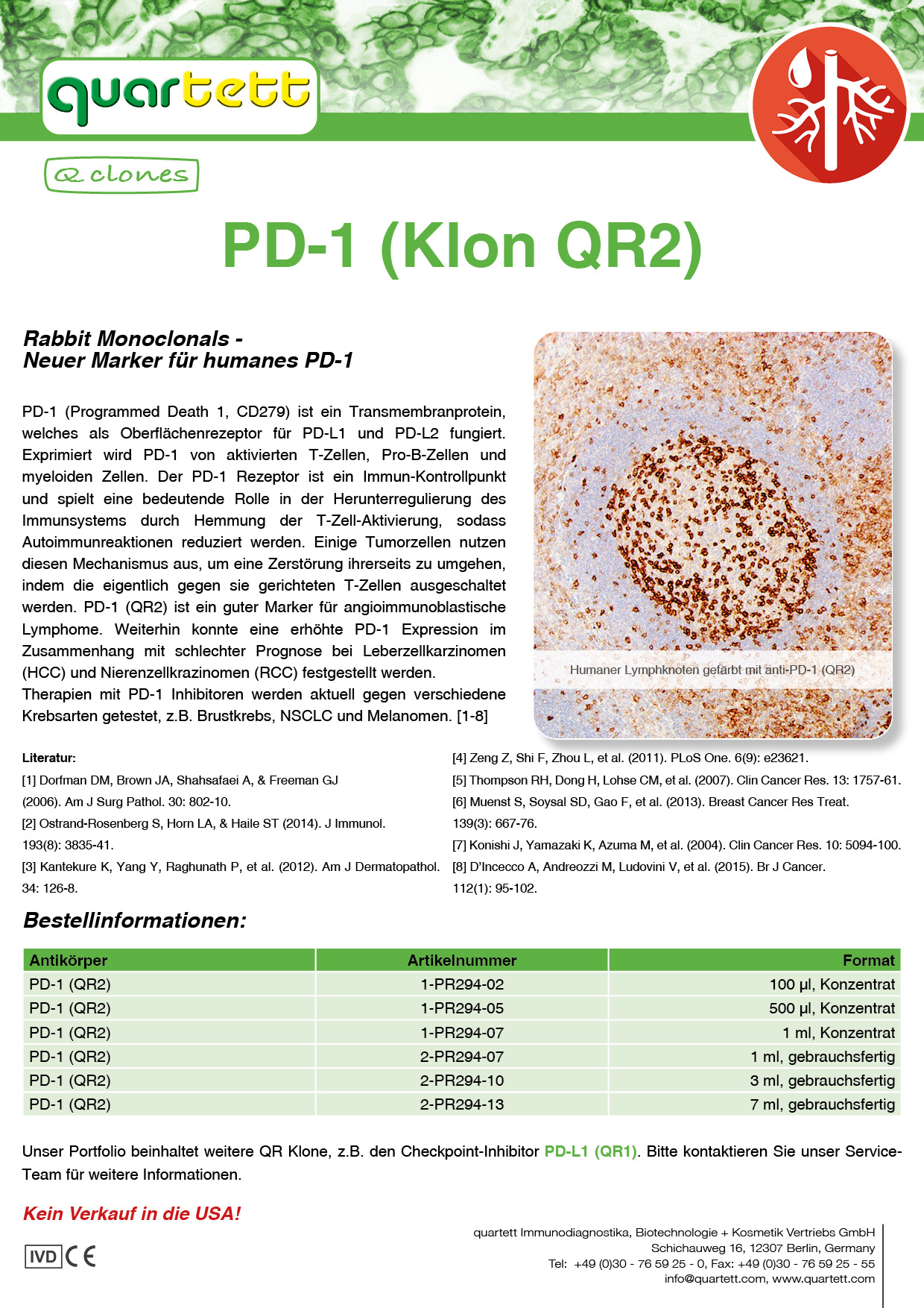 PD-1 (QR2) -PR294- (Deutsch & English)